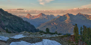 Sunset from Mount Baker
