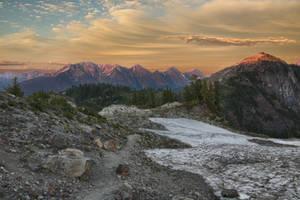 Mount Shuksan at sunset by arnaudperret