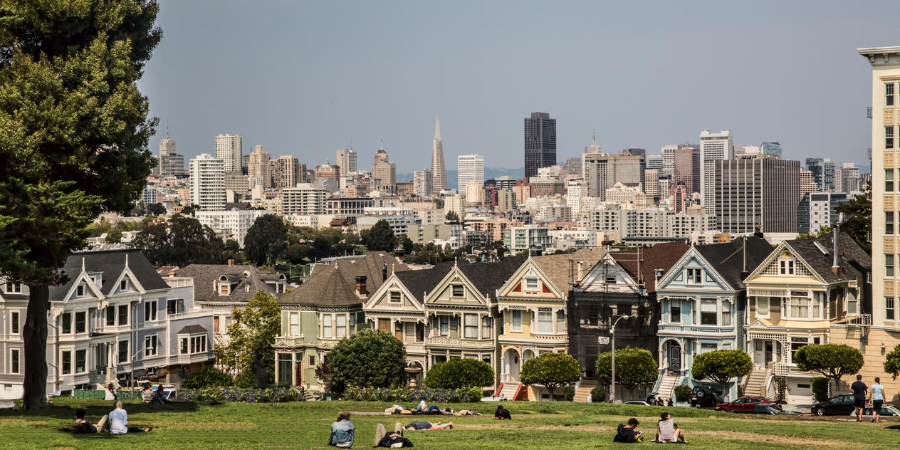 San Francisco from Alamo Square by arnaudperret