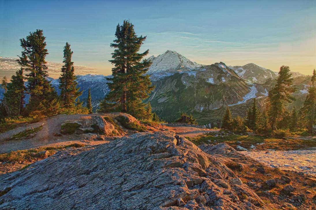 Mount Baker at sunset by arnaudperret