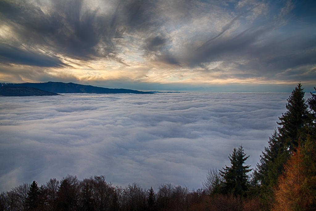 Annecy under the clouds by arnaudperret