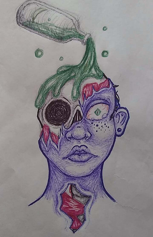 Inktober Day 3: Poison by xx-StarrySkies-xx