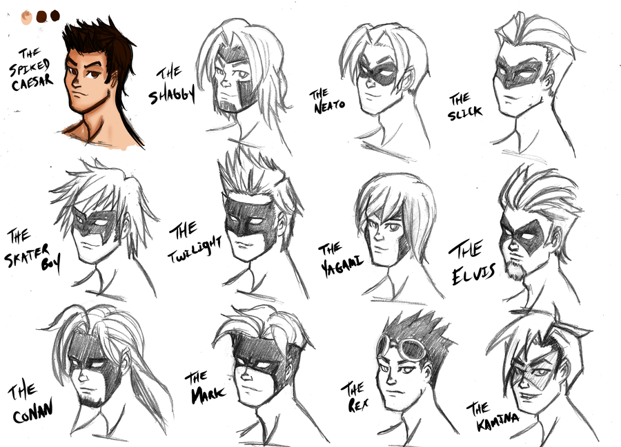 Разные мужские прически аниме