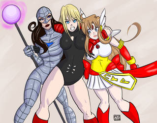Crossover-babes by kaioutei