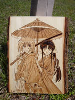 Rurouni Kenshin burning by ironhorn2501