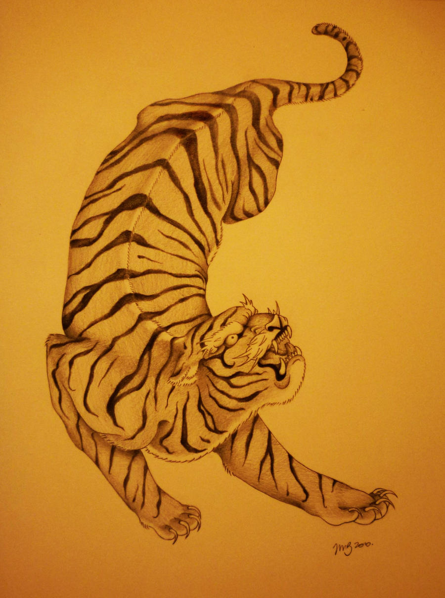Illustration of tiger pictures to pin on pinterest for Traditional japanese tattoo rules