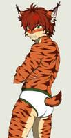 Kyle the bobcat in underwear 2