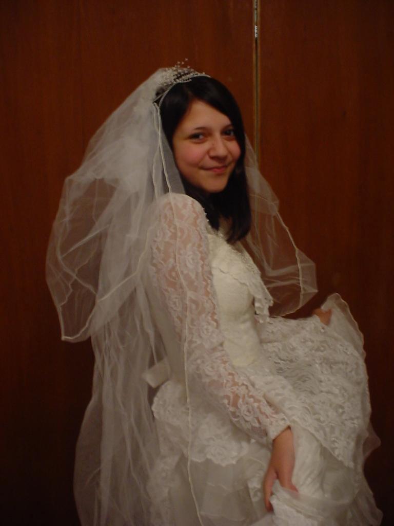 Me In My Momu0027s Wedding Dress By IsaacsDevil4108 ...