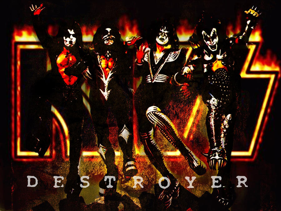 wallpaper kiss. KISS Destroyer Wallpaper by