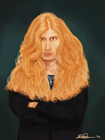 Dave Mustaine Digipainting by MabMeddowsMercury
