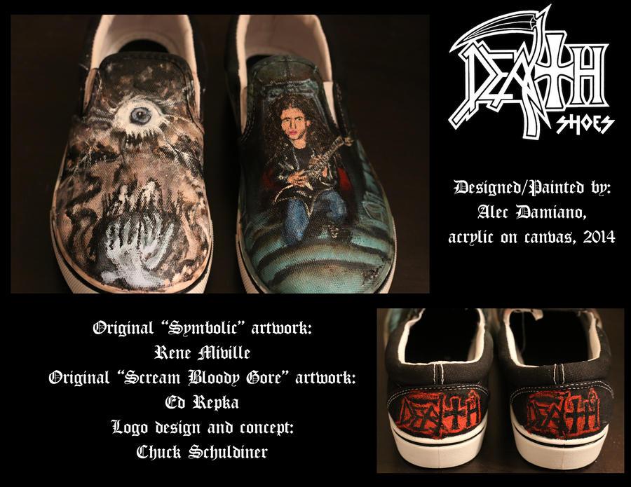 Death/Chuck Schuldiner Shoes by MabMeddowsMercury