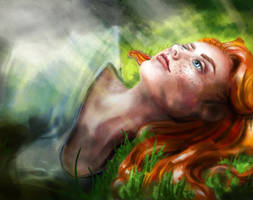 Woman in the Grass