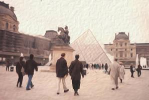 La Pyramide du Louvre by anteaterjeter
