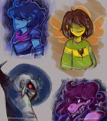 Deltarune Doodles (spoilers) by Marizouki