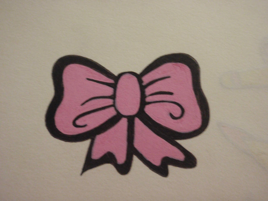 pink bow tattoo design by pinkhayzskullcrazy on deviantart. Black Bedroom Furniture Sets. Home Design Ideas