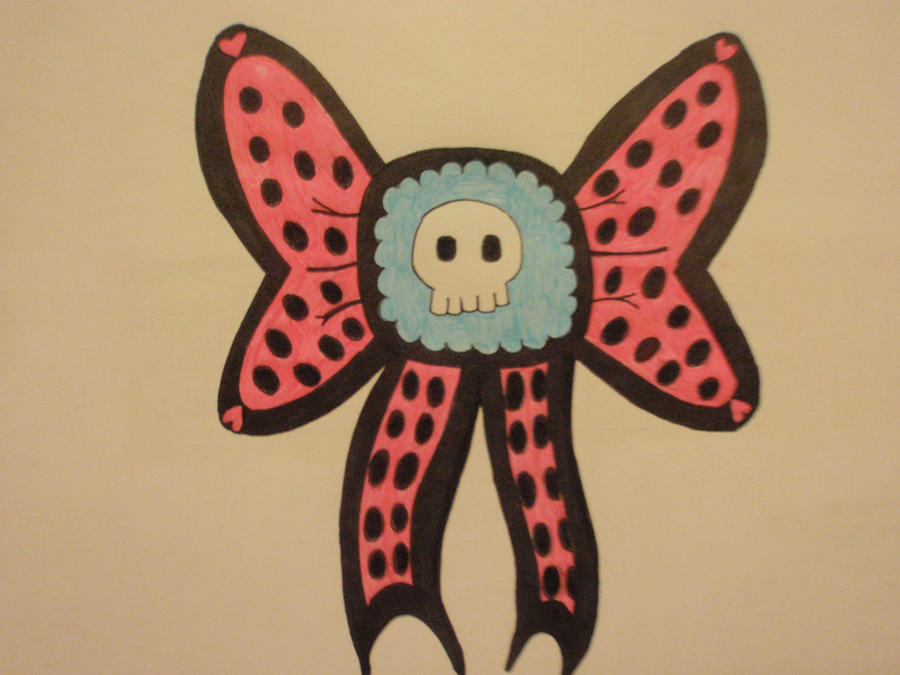 skull bow tattoo design by pinkhayzskullcrazy on deviantart. Black Bedroom Furniture Sets. Home Design Ideas