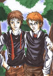 Oliver Wood and Percy Weasley