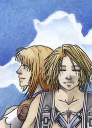 Vaan and Penelo by HotaruYagami