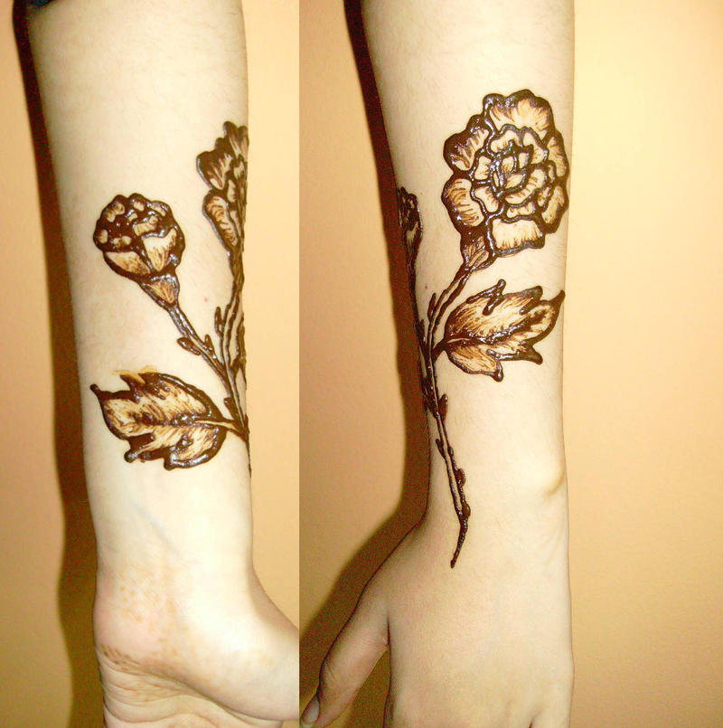 wrap around rose tattoo by honeyness on deviantart