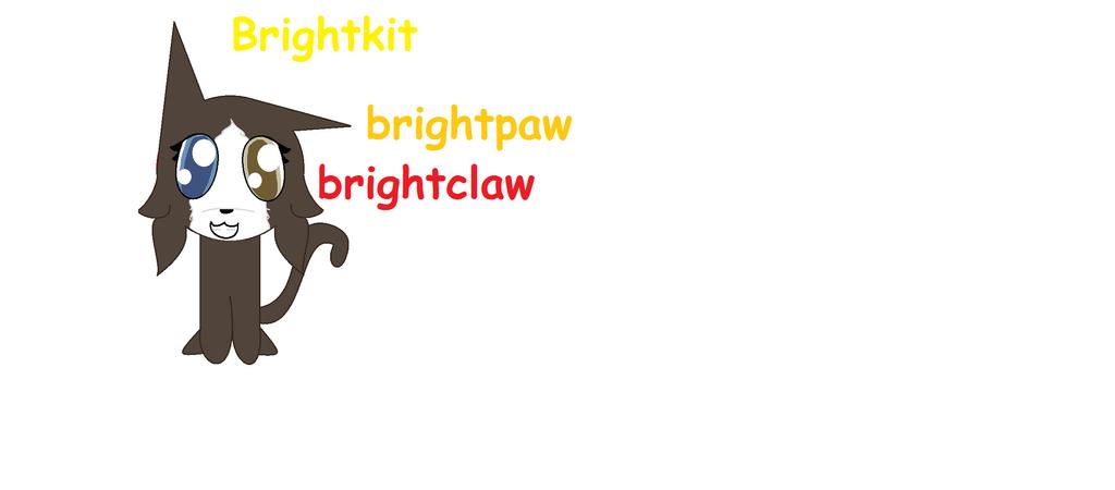 Brightkit Brightpaw Brightclaw by pokemonfnaf1