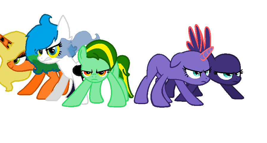 Hickorystich's Mane 5- With rainbow music in it by pokemonfnaf1