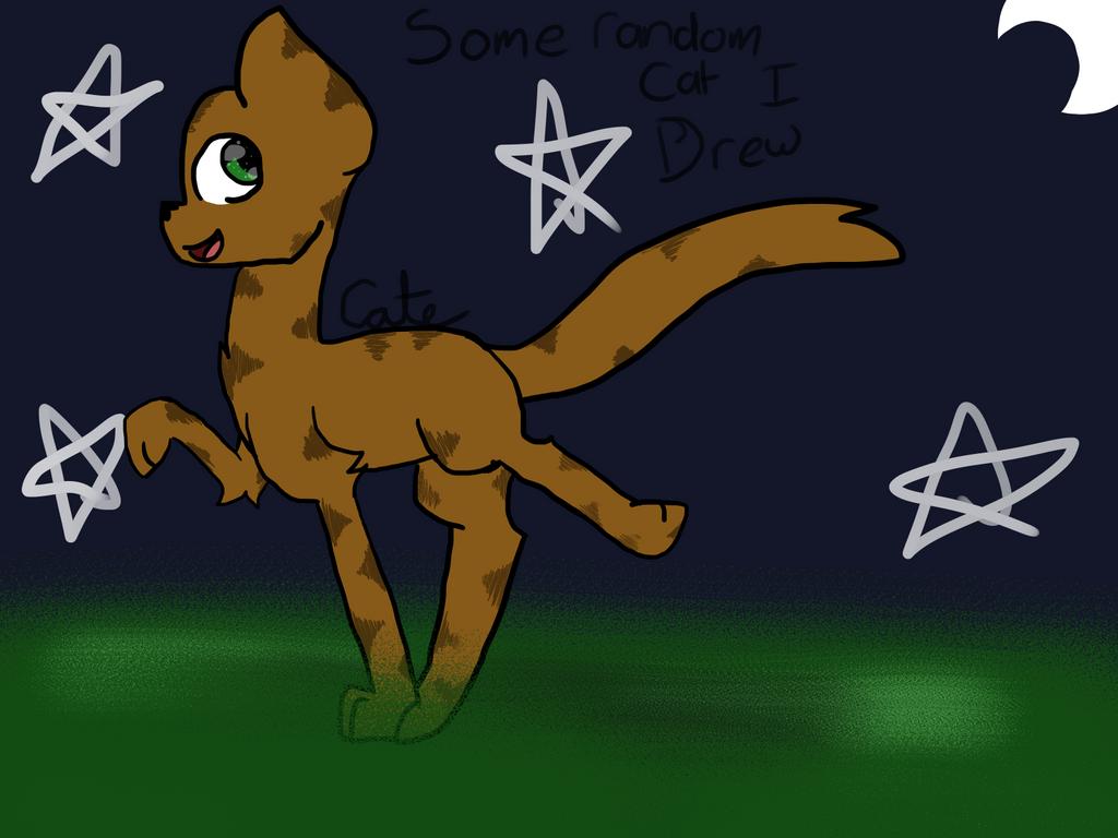 Some Random Cat I Drew by pokemonfnaf1