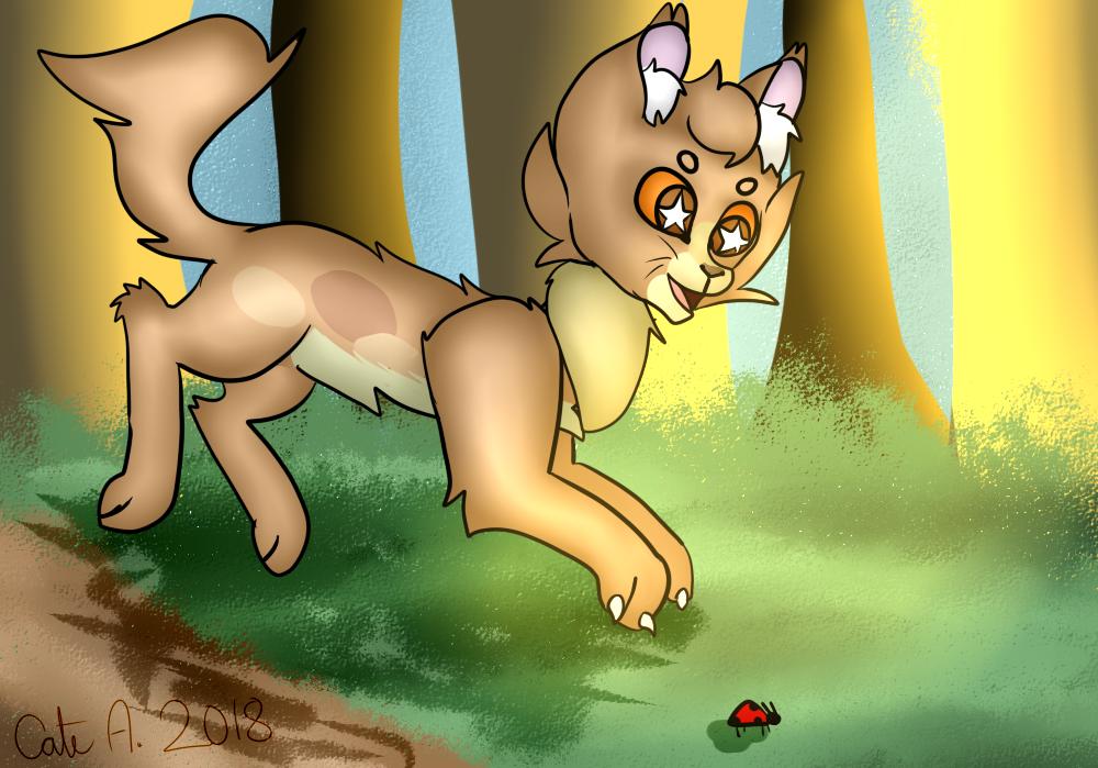 A Playful Dapppledfur by pokemonfnaf1
