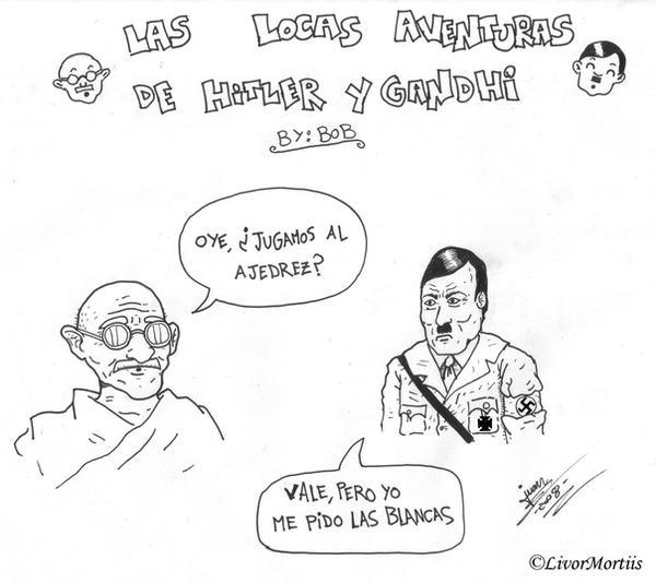 Hitler y Gandhi by Livor-Mortiis