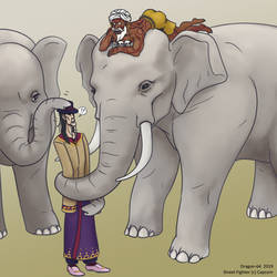 SFR - Elephant Friends by dragon-64
