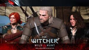 Geralt, Triss and Yennifer (The Witcher 3)