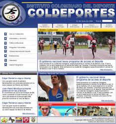 COLDEPORTES website proposal 1