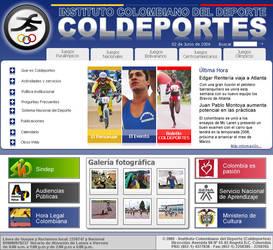 COLDEPORTES website proposal 2