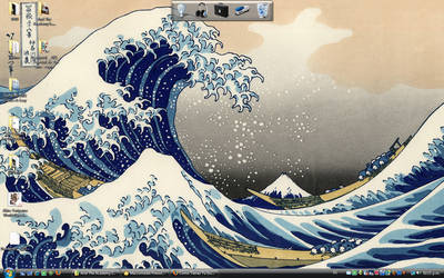 The Great Wave of my Wallpaper