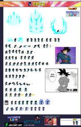 Goku Grand Priest Student  Sprite Sheet - ULSW by mrruben7