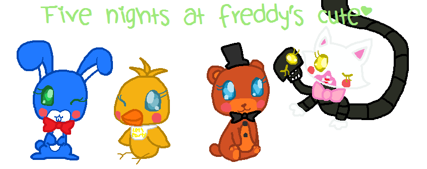 Five nights at freddy s 2 cute by jiaqian02 on deviantart