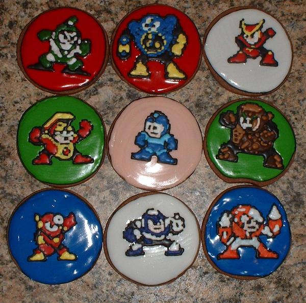 Megaman 8 Bit Cookies by Afina79