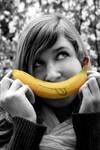 girl and banana XD by dorophant