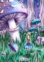 Alice in mushroomland by dorophant