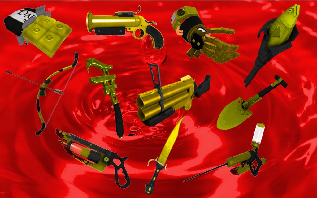 TF2 australium weapons ideas by thelakotanoid1