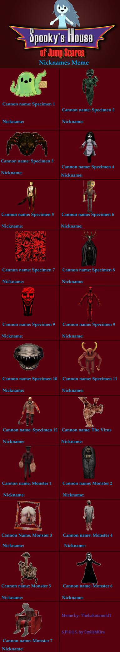 Spooky's House of Jump Scares Nickname Meme by thelakotanoid1