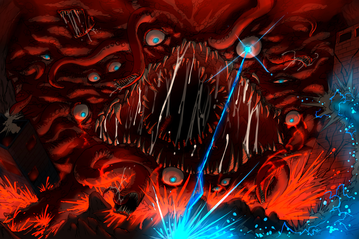 Terraria-Wall of Flesh by