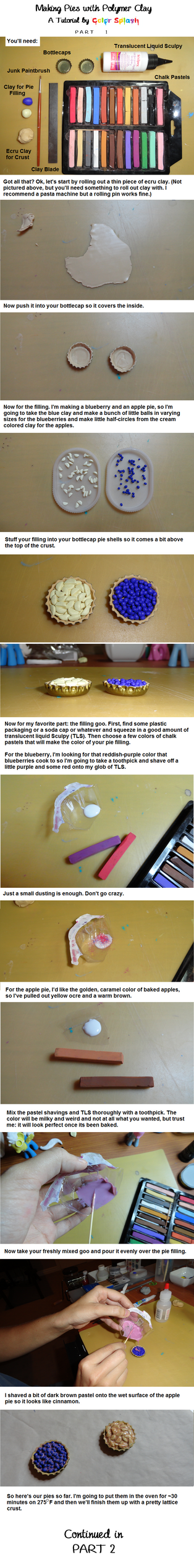 Polymer Clay Pie Tutorial PART 1 by Colour-Splashes
