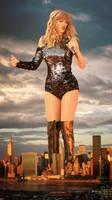 Titanic Taylor Terrorises Tiny Towers by docop