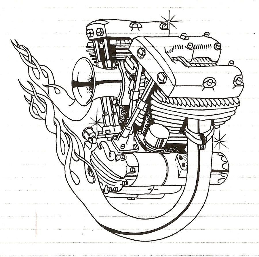 shovelhead engine by coffin