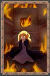 Burning Up (Commission) by TheLastUnicornInOz