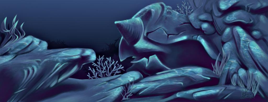 Underwater Grotto by HostilePiranha