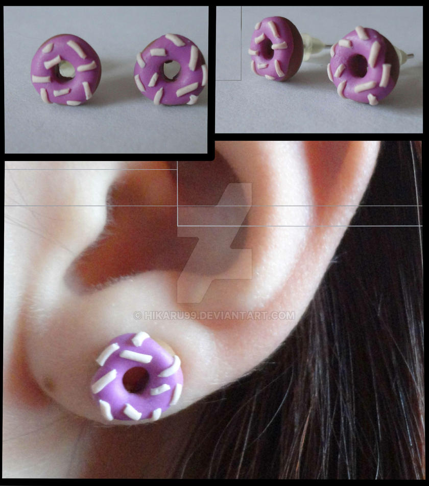 Homer Simpson Donut - Earrings by Hikaru99