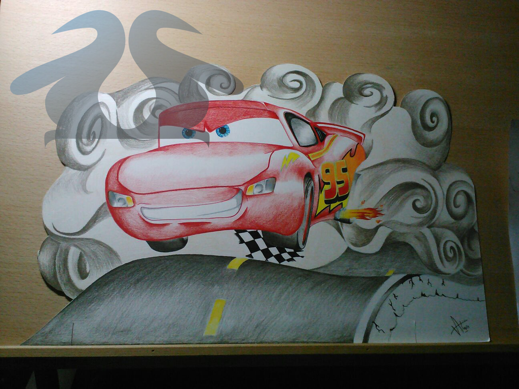 Lightning McQueen - Gift by WaddleArt