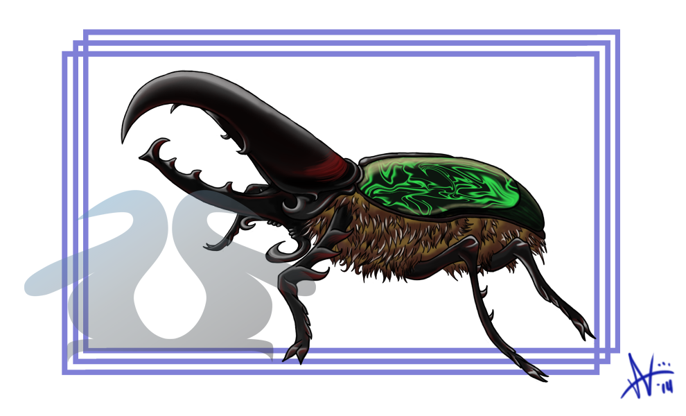 Commission: Hercules Beetle by WaddleArt