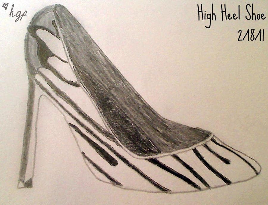 High Heel Shoe Sketch by HicksGirl on DeviantArt